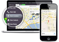 mSpy's GPS Location Tracking feature